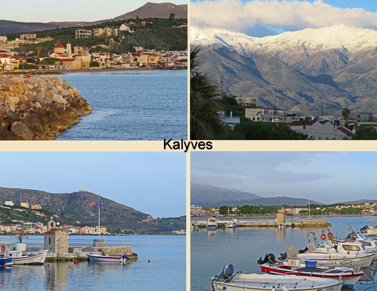 Views of the sea site in Kalyves, a village outside Chania