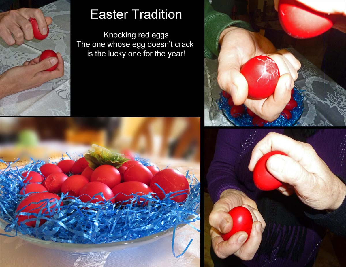 Greek Easter tradition - the cracking of the eggs