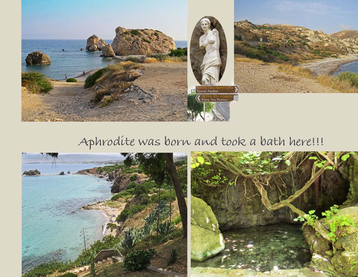Legend and mythology connects these places with Aphrodite