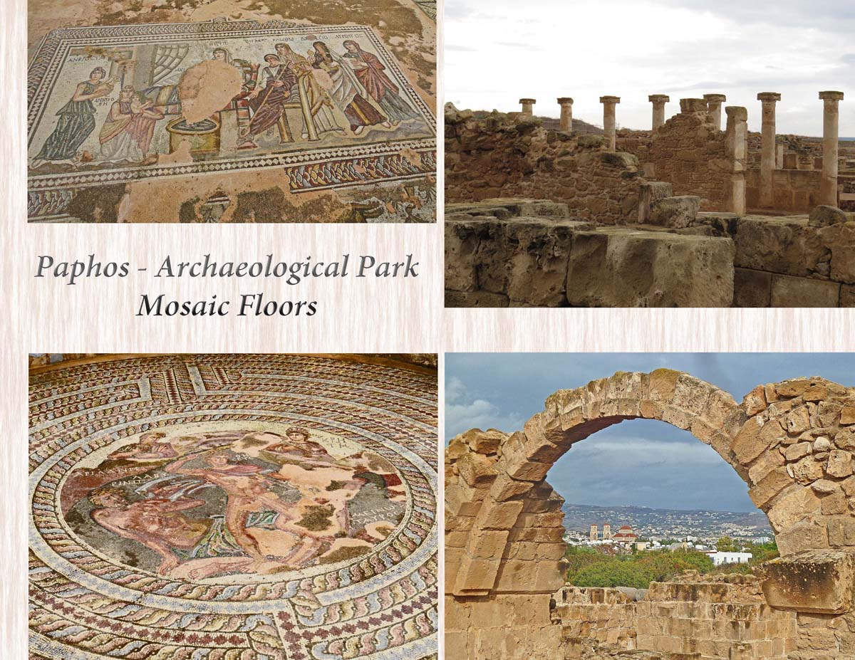Mosaics and structures at the Archaeological Park