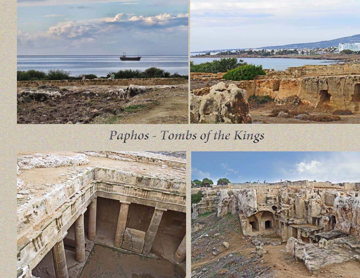 Two of the tombs of the kings by the sea