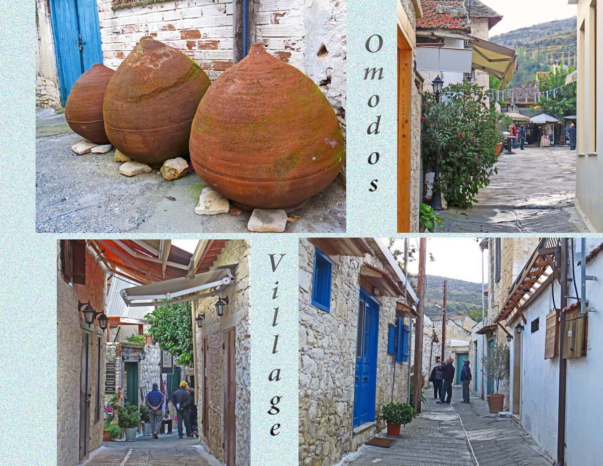 Omodos, a village known for the Monastery of Holly Cross