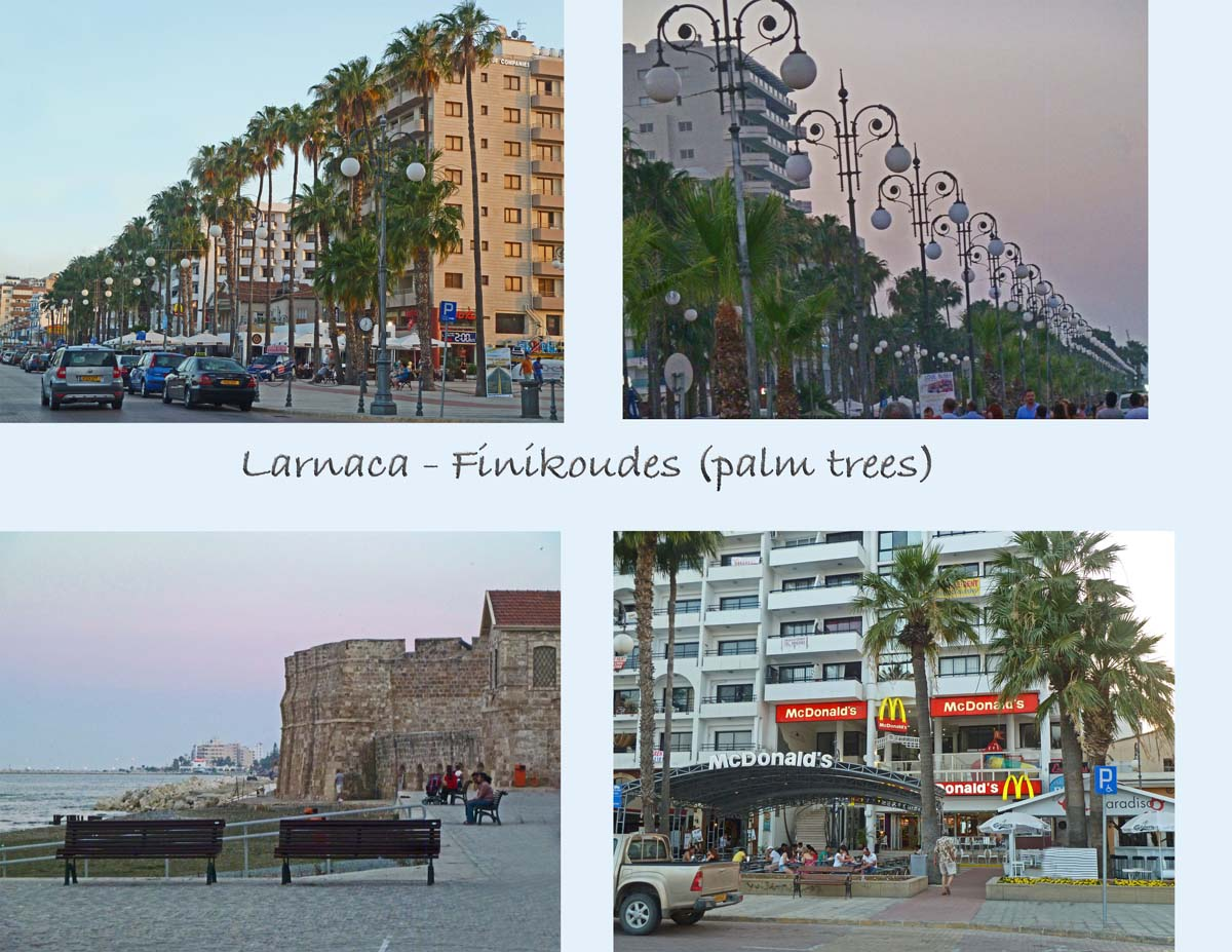 Larnaca is one of the six cities of Cyprus. Views of the seaside