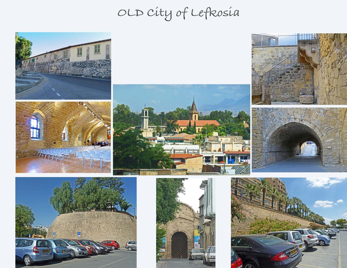 The old (historic) city is surrounded by walls build by the Venitians