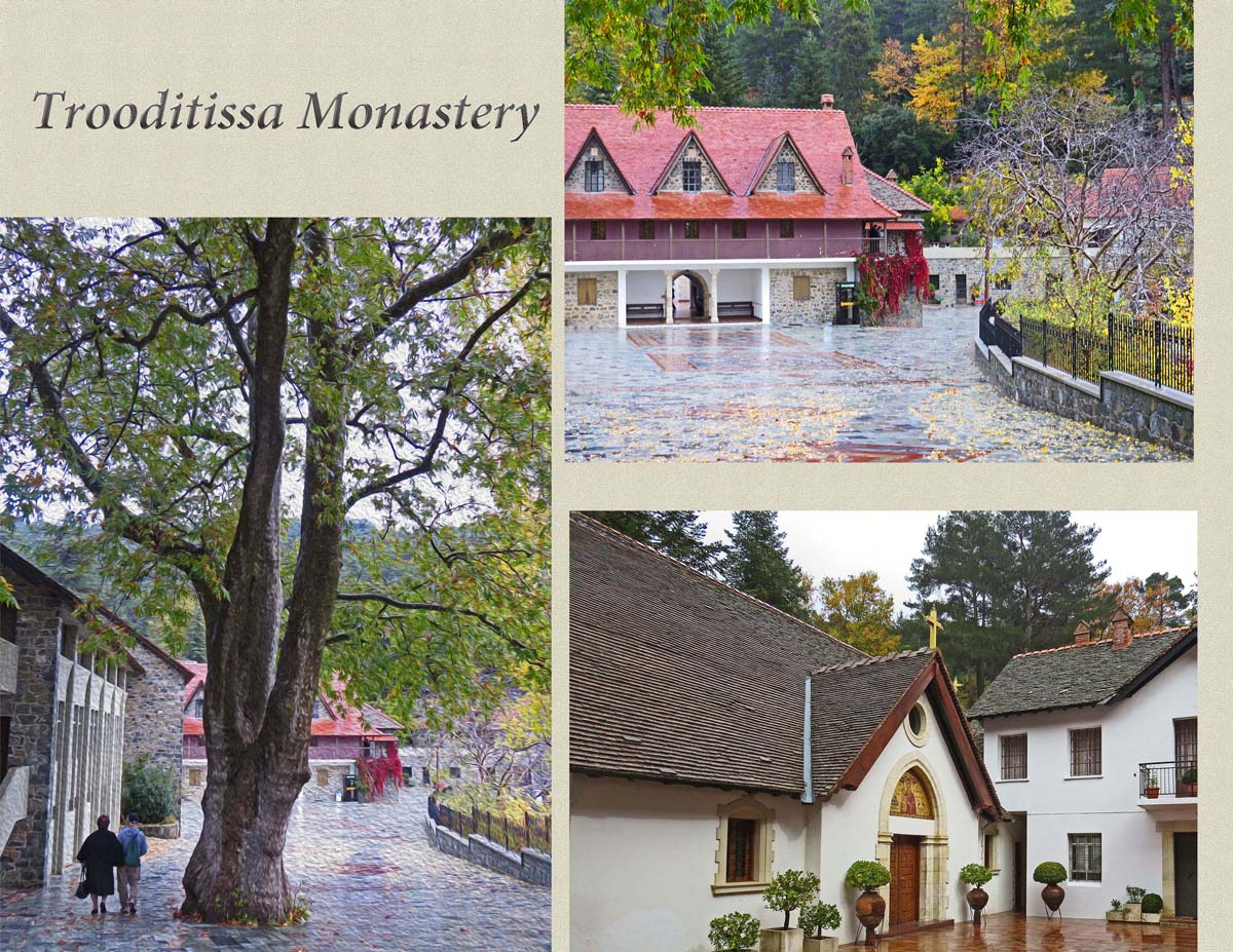 The Monastery of Trooditissa on the slopes of Troodos Mountains